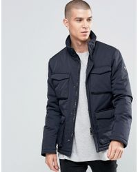 Armani Jeans | Blue Field Jacket With 4 Pockets Water Repellent for Men | Lyst