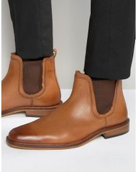 Dune | Brown Chelsea Boots Tan Leather for Men | Lyst
