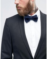 Féraud - Blue Gianni Knitted Bow Tie In Navy for Men - Lyst
