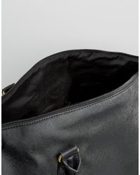 ASOS - Smart Holdall In Black Faux Leather - Black for Men - Lyst
