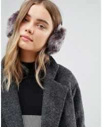 Ted Baker - Purple Faux Fur Ear Muffs - Lyst