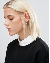 Cheap Monday - Metallic Twist Earrings - Lyst