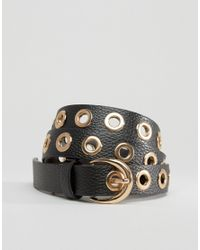 Glamorous   Eyelet Detail Belt - Black   Lyst