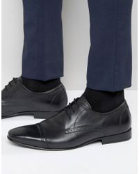 Frank Wright | Toe Cap Oxford Shoes In Black for Men | Lyst