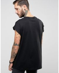 ASOS | Black Slayer Oversized Sleeveless Longline Band T-shirt for Men | Lyst