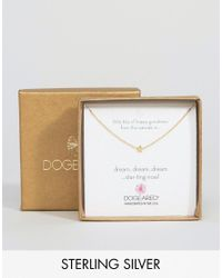 Dogeared | Metallic Gold Plated Little Bits Of Happy Mini Star Limited Edition Boxed Necklace | Lyst