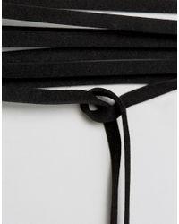 ALDO - Black Wrap Around Tassel Choker - Lyst