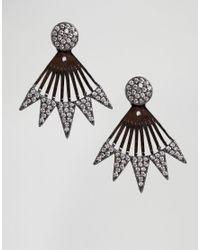 ALDO - Metallic Godsil Statement Earrings - Gold - Lyst