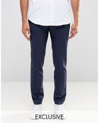 Noak | Blue Suit Pants In Super Skinny Fit for Men | Lyst
