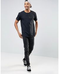 Pull&Bear - T-shirt With Distressing In Black for Men - Lyst
