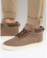 Fila   Gray Roswell Laceup Boots for Men   Lyst