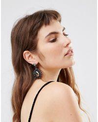 Girls On Film - Black Gem Fan Drop Earrings - Black - Lyst