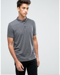 ASOS | Gray Polo Shirt In Charcoal for Men | Lyst