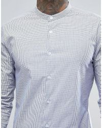 ASOS - Skinny Stripe Shirt In Blue for Men - Lyst