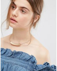 Nylon - Metallic Bar Collar Necklace - Lyst