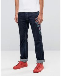Love Moschino - Blue Dragon Slim Fit Jeans for Men - Lyst