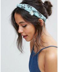 ASOS   Multicolor Embellished Palm Tree Turban Headband   Lyst