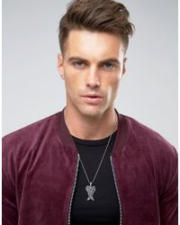 Seven London | Metallic Wings Necklace In Silver Exclusive To Asos for Men | Lyst