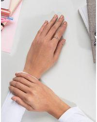 ASOS - Metallic Rose Gold Plated Sterling Silver Filigree Ring - Lyst