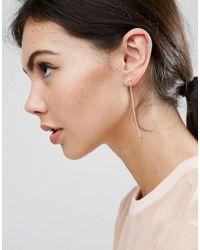 ASOS - Metallic Pack Of 3 Mixed Plate Sterling Silver Crystal Single Earrings - Lyst
