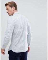 Jack & Jones - Blue Premium Slim Stripe Shirt for Men - Lyst