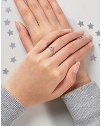 ASOS - Metallic Sterling Silver Birth Stone April Ring - Lyst