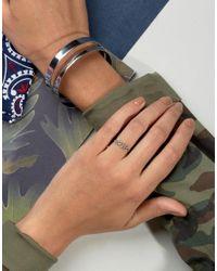 ASOS - Metallic Sterling Silver Heart Link Ring - Lyst