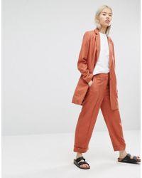 ADPT - Orange Longline Blazer - Copper Brown - Lyst