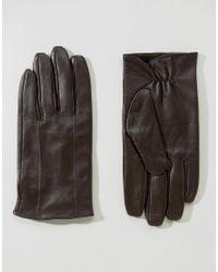 Barneys Originals | Barneys Leather Gloves In Brown for Men | Lyst