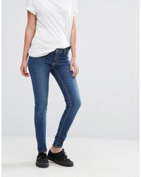 Cheap Monday | Blue Juicy Low Spray Jeans | Lyst