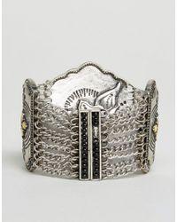 Nylon - Metallic Chunky Stone Detail Festival Bracelet - Lyst
