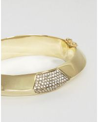 House of Harlow 1960 - Metallic Gold Tone Cuff Bracelet - Lyst