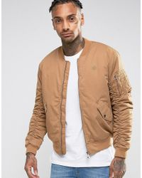 Criminal damage Canvas Ma1 Bomber Jacket in Brown for Men | Lyst