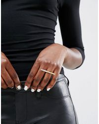 CC SKYE - Metallic Stiletto Ring - Lyst