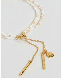 Gorjana - Metallic Gold Plated Taner Dagger Bead Bracelet - Lyst