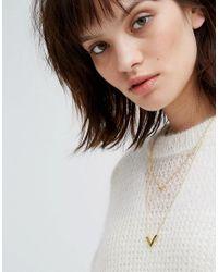 Gorjana - Metallic Knox V Double Pendant Necklace - Lyst