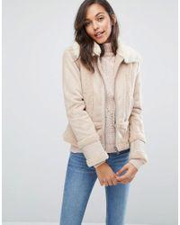 Miss Selfridge   Pink Faux Shearling Jacket   Lyst