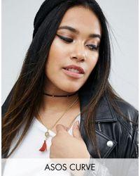 ASOS - Multicolor Multirow Cord Tassel Choker Necklace - Lyst