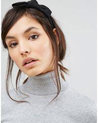 Vero Moda - Bow Headband - Black - Lyst