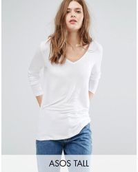 ASOS | White The New Forever T-shirt With Long Sleeves And Dip Back | Lyst