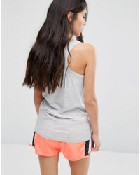 ONLY - Gray Play Palm Gym Vest - Grey - Lyst