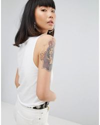 Cheap Monday - White Been There Shield Tank Vest - Lyst