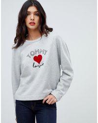 6cb590c2d Tommy Hilfiger Tommy X Love Logo Sweatshirt in Gray - Lyst