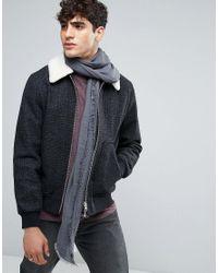 Esprit | Gray Scarf In Herringbone for Men | Lyst