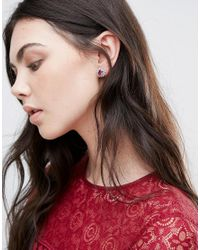 Krystal - Pink Swarovski Crystal Rosetta Earrings - Lyst