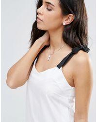 Krystal - Metallic Swarovski Pear Drop Necklace And Earring Set - Lyst