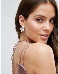 Krystal - Metallic Swarovski Crystal Cluster Earrings - Crystal - Lyst
