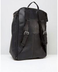 Sandqvist - Tobias Leather Backpack In Black for Men - Lyst