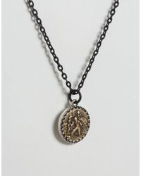 Icon Brand - Pendant Necklace In Black - Lyst