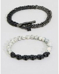 Icon Brand | Multicolor Bones Mixed Bracelet Pack for Men | Lyst